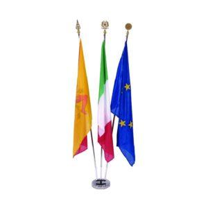 99896 – Trittico Bandiere da Interno Italia – Europa – Sicilia